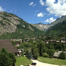The town of Courmayeur